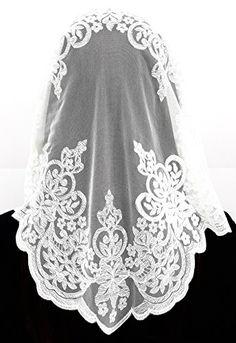 Anna Veils Chapel Catholic Veil Spanish Lace Mantilla Medium - Rich (White) Anna Veils http://www.amazon.com/dp/B012RAUHWQ/ref=cm_sw_r_pi_dp_2JH7wb0CT2ZT3