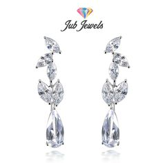Marquise Drop Earrings - Jub Jewels