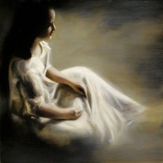 """Breath"" [from her Gallery ""White Noise"" 2010] By Margarita Georgiadis, from Austrailia (b. 1968) - oil on linen; 61 x 61 cm - http://margaritageorgiadis.webs.com/"