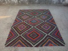 Bohemian kilim rug, carpet,Kilim Rug,Carpet Rug,Wool Rug,Anatolian Ethnic kilim, 9'2'' X 6'6'' ft, Area Rug, 282 X 201 cm, handwoven kilim