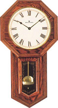 Lansford Red Oak Wall Clock
