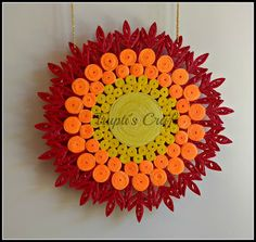 Trupti's Craft: Paper Quilling Sunset Theme Multipurpose Wall Hang...