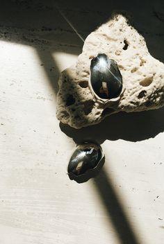 ALL BLUES Silver Eggshell earrings. More on THEDASHINGRIDER.com