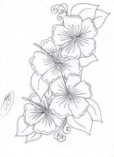 flower drawing Hibiscus flower tattoos and Hawaiian flower drawing Hawaiian Flower Tattoos, Hibiscus Flower Tattoos, Hawaiian Flowers, Hibiscus Flowers, Tattoo Flowers, Hibiscus Bush, Lilies Flowers, Hibiscus Plant, White Hibiscus