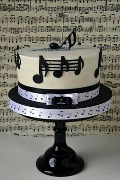 48 Ideas For Music Theme Birthday Cake Music Themed Cakes, Music Cakes, Fancy Cakes, Cute Cakes, Beautiful Cakes, Amazing Cakes, Fondant Cakes, Cupcake Cakes, Bolo Musical