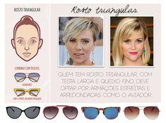 Consultoria de Imagem: óculos para rosto triangular