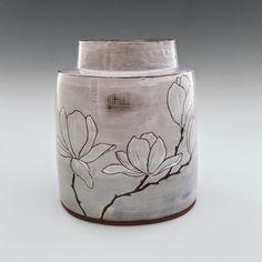 Magnolia Vase II by Whitney Smith (Ceramic Vase - sculpture - Vase ideen Ceramic Stool, Ceramic Boxes, Ceramic Teapots, Ceramic Decor, Ceramic Design, Pottery Mugs, Ceramic Pottery, Pottery Art, Thrown Pottery