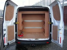 Ford Transit Custom L1 - Midway bulkhead, nearside and offside shelving, slide out vide holder with vice, Loadlok on midway bulkhead