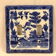 Blue Willow Double Light Switch Cover Well butter my butt and call me a biscuit!!!SLH
