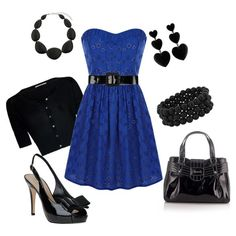 Black & blue!  Why, oh why can't *I* wear stuff like this?!  So pretty!