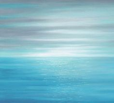 Inspired by the tranquility of the ocean, this canvas wall art will enhance your bedroom, dining area, living room or office decor. Colors include teal, aqua, light turquoise blue, white, grey and a touch of teal green. In addition to the first image above, theres a version with more blue in it. You can choose your preference when you check out.  ☼ Titled: Clean Breeze ►► DETAILS ►► PLEASE READ ►► ☼ Medium: Giclée canvas print of original painting by Denise Cunniff. ☼ Finish: High quality…