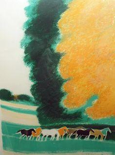 ブラジリエ・版画(リトグラフ)・秋の谷