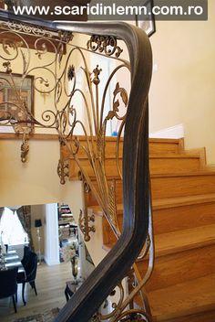 Balustrada - mana curenta lemn curbat la scara de lemn interioara Mirror, Furniture, Home Decor, Decoration Home, Room Decor, Mirrors, Home Furnishings, Home Interior Design, Home Decoration
