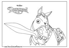 1000 images about coloriage disney raiponce on - Maximus cheval raiponce ...