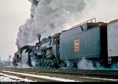 RailPictures.Net Photo: CB&Q 5632 Chicago Burlington & Quincy Railroad Steam 4-8-4 at Mendota, Illinois by John West