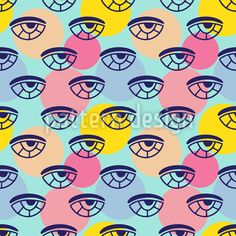 Eyes On Circles Vector Design Simple Geometric Pattern, Vector Design, Your Design, Circles, Geometry, Polka Dots, Eyes, Art, Kunst