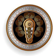 Circumplexical No 3655 by Alan Bennington Mandala Pattern, Mandala Design, Mandala Art, Fractal Art, Fractals, Magic Design, New Media Art, Magic Art, Celtic Art