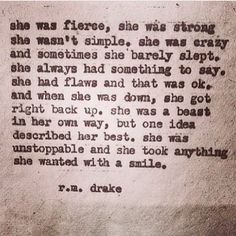 she was unstoppable .....
