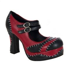 Monster Stitch Platform Mary Jane Shoes - TUK Shoes - SinisterSoles.com