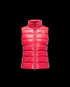 MONCLER GHANY Vest for Women red Take That, Bring It On, Moncler, Official c61f72a129c