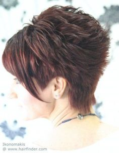 Hairstyle with a short clipped neck - Back view
