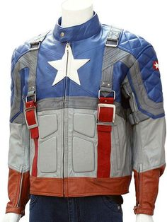 e377727ecac Captain America Motorcycle Leather Jacket - Visit to grab an amazing super  hero shirt now on