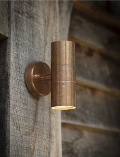 This is a great, pared back outdoor light in a rustic copper finish, The simple design is perfect for most spaces. Robust and durable Raw Copper Copper Wall Light, Copper Lighting, Rustic Wall Lighting, House Lighting, Bathroom Lighting, Outdoor Wall Sconce, Outdoor Walls, Outdoor Light Fixtures, Outdoor Lighting