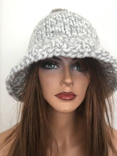 Hand Knits 2 Love Beanie Hat Slouch Faux Fur Pom Pom Designer Fashion Winter    | eBay