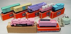Vintage Lionel Girls Pastel Set No or in terrific Original Condition Lionel Train Sets, Electric Train Sets, Trains For Sale, Girl Train, Making A Model, Standard Gauge, Old Trains, Hobby Trains, Train Engines