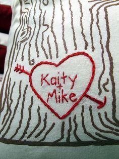 Custom Heart/Tree Print Pillow cover