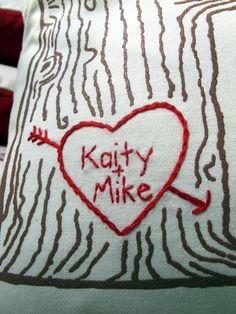 Custom Heart/Tree Print Pillow cover