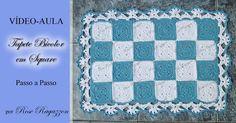 Rose Ragazzon Crochê: Jg de Banheiro Bicolor em Squares