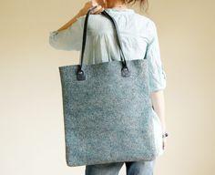 "Hand Felted Tote Bag ""That's It"", Felted Shoulder Bag, Pouch, Tote, Laptop Bag, Big Bag For Women on Etsy, $96.28 CAD"