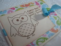Handmade Vintage Inspired Greeting Card  OWL  by wkburden on Etsy, $1.99