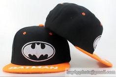 DC Comics kids Snapbacks Hats Batman Black/Orange