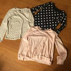 Girls Shirts -$7 for all three Gap (pink) Old Navy (white) Carters (blue) Skirts