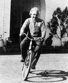 Stars on Bikes - Famous People Riding Bicycles: Albert Einstein on a bicycle