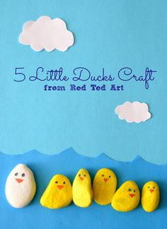 Spring Craft - 5 Little Ducks Play Set from Red Ted Art - Inner Child Fun Rainy Day Crafts, Spring Crafts For Kids, Spring Projects, Art For Kids, Kid Art, Art Projects, Spring Activities, Craft Activities, Toddler Activities