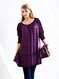 Pleated Tunic Dress (Plus Size) 10/2014
