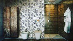 Vamos combinar que essa peça RA-04 em Azul Marinho da Linha Raio ficou Sensacional nesse banheiro hein?!  Apaixonei!!! A geometria sempre traz sofisticação para os ambientes! Estamos com ótimos prazos de entrega para os meses de Novembro e Dezembro. Aproveite!!!  #decora #instadecor #inspiration #reforma #photooftheday #lifestyle #painel #azulejo #azulejos #ceramic #ceramica #revestimento #arquitetura #design #interiordesign #ideia #art #azulejaria #home #fachada #decor  #azulejosdecorados…