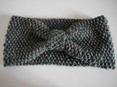 DIY Strick Anleitung: Stirnband mit Perlmuster und Schleife / DIY knitting pattern: headband with a bow