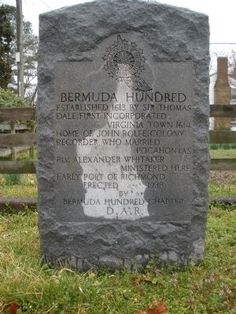 Bermuda Hundred DAR Marker Photo, Click for full size