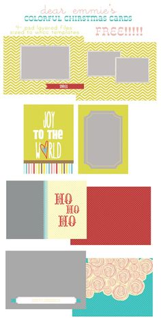 Free Christmas Card Templates by Dear Emmie Designs Christmas Card Template, Printable Christmas Cards, Xmas Cards, Christmas Photos, Holiday Fun, Christmas Holidays, Card Templates, Holiday Crafts, Making Ideas