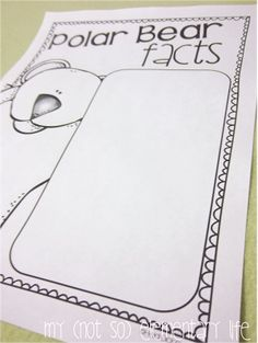 Polar Bear Facts...a unit and craft pack all about Polar Bears