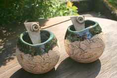 Handmade Art, Candle Holders, Planters, Etsy, Nature, Inspiration, Plant Pots, Exotic House Plants, Pottery Ideas