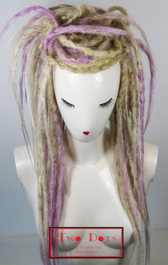 Items similar to Ombre Blonde to Lavender Crocheted Dreads Falls. Hairpieces, Headdress, Wig on Etsy Yarn Dreads, Dreadlocks, Dread Falls, Dread Hairstyles, Hair Hacks, Hair Tips, Blonde Ombre, Crochet Hair Styles, Fall Hair
