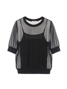 Black Sheer Top, Malene Birger, Parisian Chic, Sonia Rykiel, Just In Case, Collections, Boutique, Tees, Sweaters