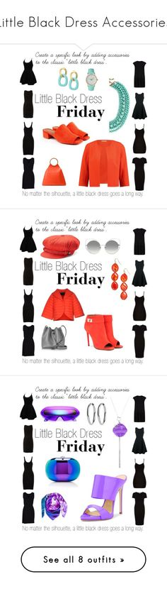 """""""Little Black Dress Accessories"""" by relixandria on Polyvore featuring LittleBlackDress, LBD, template, ELLIOTT LAUREN, WithChic, Emporio Armani, T By Alexander Wang, Viereck, MuuBaa and Dorothy Perkins"""