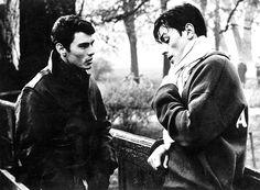 Still from Rocco e i suoi fratelli. Alain Delon, Annie, Luchino Visconti, Sad Movies, Hard Men, Love Movie, Looking Up, My Eyes, Brother