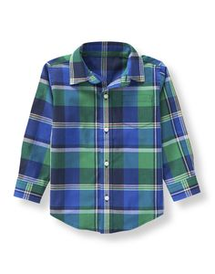 Crafted in airy cotton madras, our shirt features plaid in fresh hues.